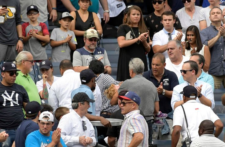 Yankee Victory Becomes Footnote After Girl Is Struck by Line Drive