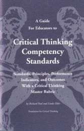 Critical thinking competency standards for educators