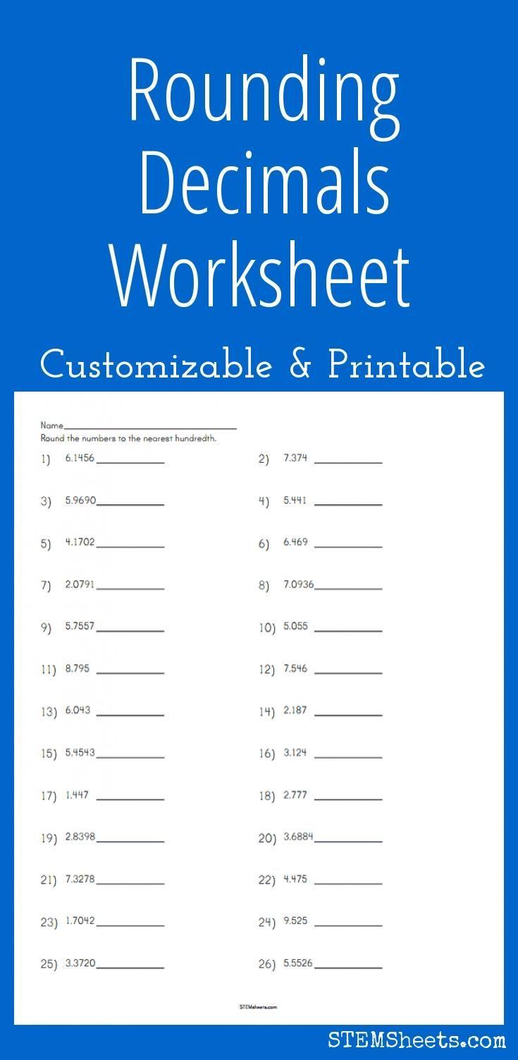 Best 25 Rounding Decimals Worksheet Ideas