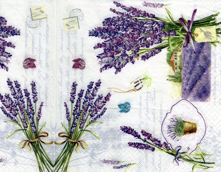 255 best laminas de lavandas images on Pinterest Decoupage