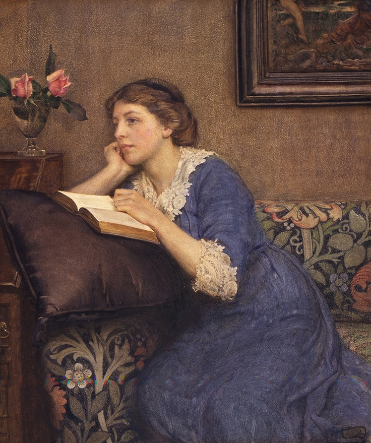 Portrait of Winfred Roberts, 1913  Eleanor Fortescue-Brickdale,  © Tullie House Museum and Art Gallery Trust. Can be seen at Watts Gallery's new exhibition: A Pre-Raphaelite Journey: Eleanor Fortescue-Brickdale. 5 February - 9 June 2013