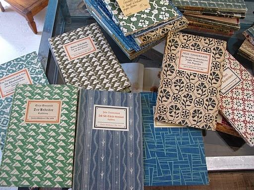 Vintage German book covers