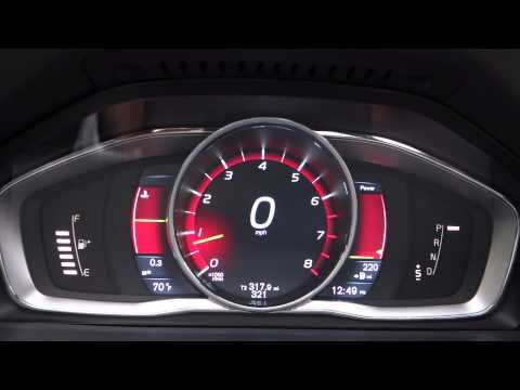 Volvo S60 2014 Digital Dashboard - YouTube