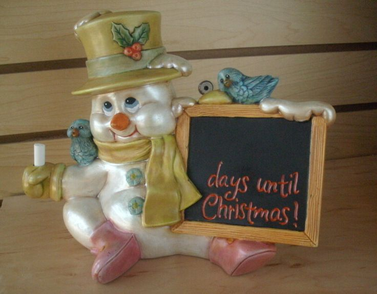Christmas Decoration winter decor Snowman countdown day's till Christmas chalk board gifts for her gifts for children Days until Christmas by MapleHillCeramics on Etsy