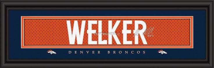 Wes Welker Denver Broncos Player Signature Stitched Jersey Framed Print