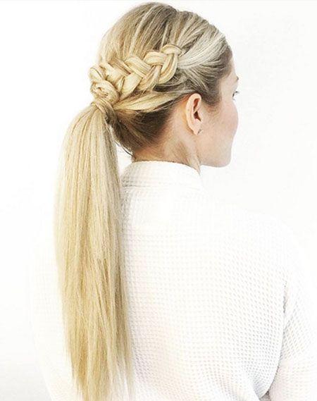 15 schöne lange gerade Pferdeschwanz-Frisuren
