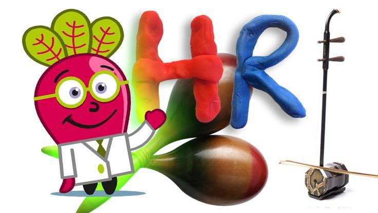Aprende el #Abecedario y descubre instrumentos musicales para #niños, en un #abc con el Doctor Beet, en este #vídeo educativo #infantil en #español. #Lectoescritura, #ortografía, #música, #mayúsculas, #minúsculas, #dibujos, #recursos, #aula. Instrumentos que aprendemos: Huqin, idiófonos, jarana, kalimba, lira, maracas, novike, órgano, Piano, quena, Rabel y saxofón.