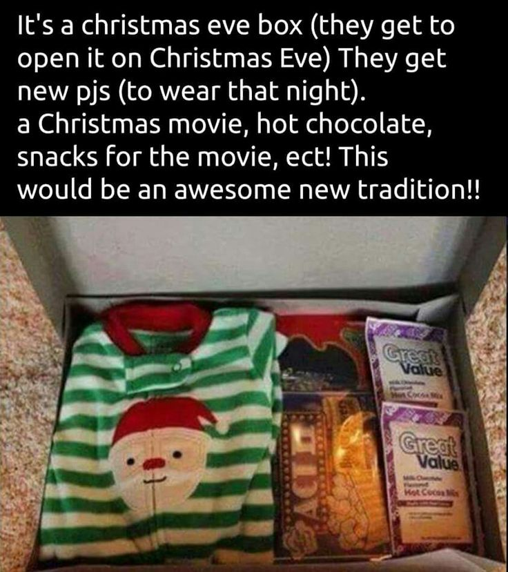 Christmas eve box (With images) | Christmas traditions, Kids christmas, Holiday