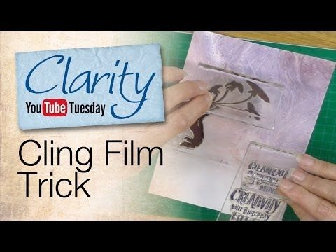 ▶ Stamping How To - Cling Film Trick - YouTube