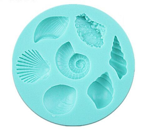Seven seashells reusable silicone mold