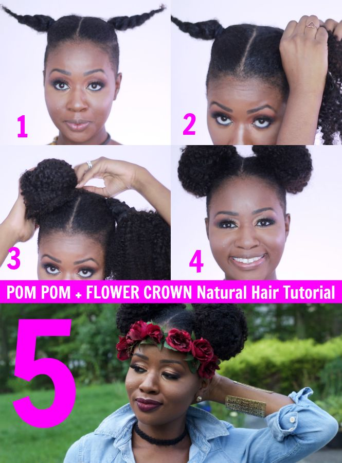 The Flower Crown: The Hot Natural Hair Trend For Fall 2016 [Video] - Lisa a la…