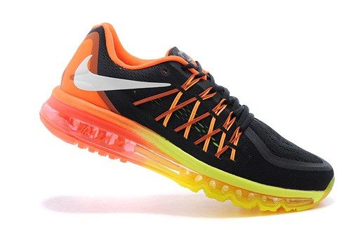 698902-004 Air Max black orange mens running sport shoes 2015