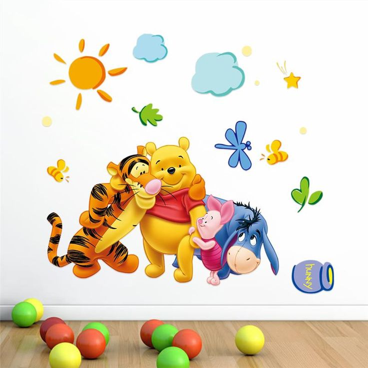 Beautiful wall art wall decal for Kids room with Pooh Price: 7.24 & FREE Shipping  #decomagics #homedecor #homedecorideas #decor