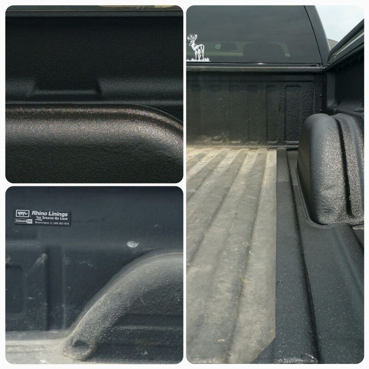"Our spray in bedliner vs ""theirs"". This truck needed the passenger side bedside resprayed after body shop repair. This picture shows ""their"" spray in bedliner vs ours. Obviously they all look good when they are new. But ours will be more durable and look good for many years. As you can tell in the pictures theirs turned chalky and lost color. Visit us at 3941 Pintail Dr, Springfield to learn more about our spray in bedliners."