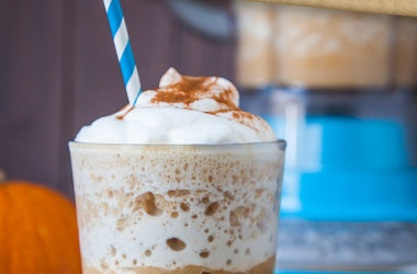 "White Mocha Pumpkin ""Frappuccino"" Iced Blended Drink (naturally glu..."