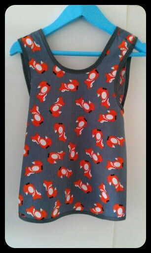 Fox pinafore! Foxes are the new owls:):)
