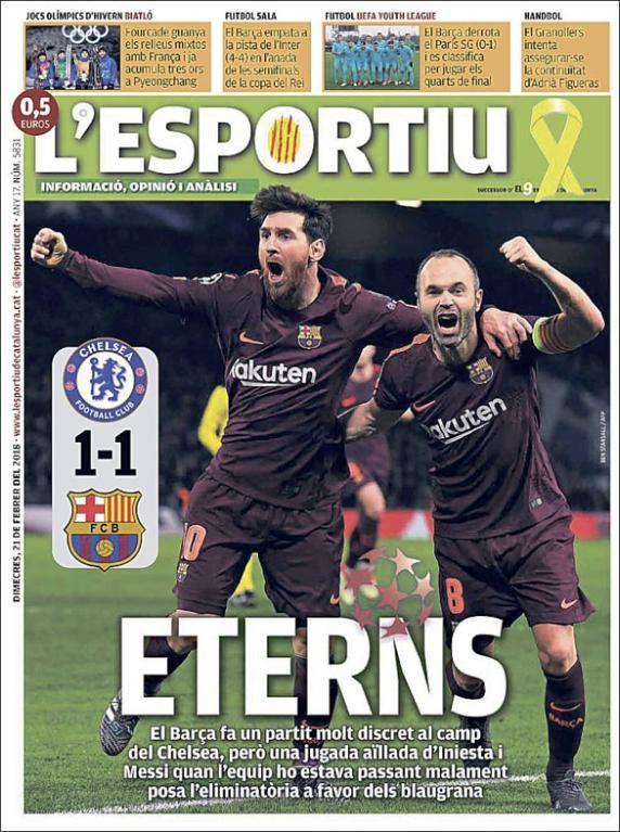 Las portadas de los diarios deportivos del miércoles 21 de febrero de 2018