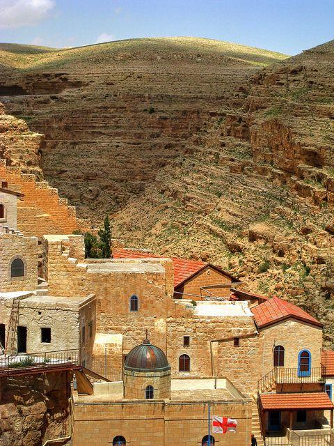 Mar Saba Monastery, Israel.  Photo:  Mariusz Kluzniak, via Flickr