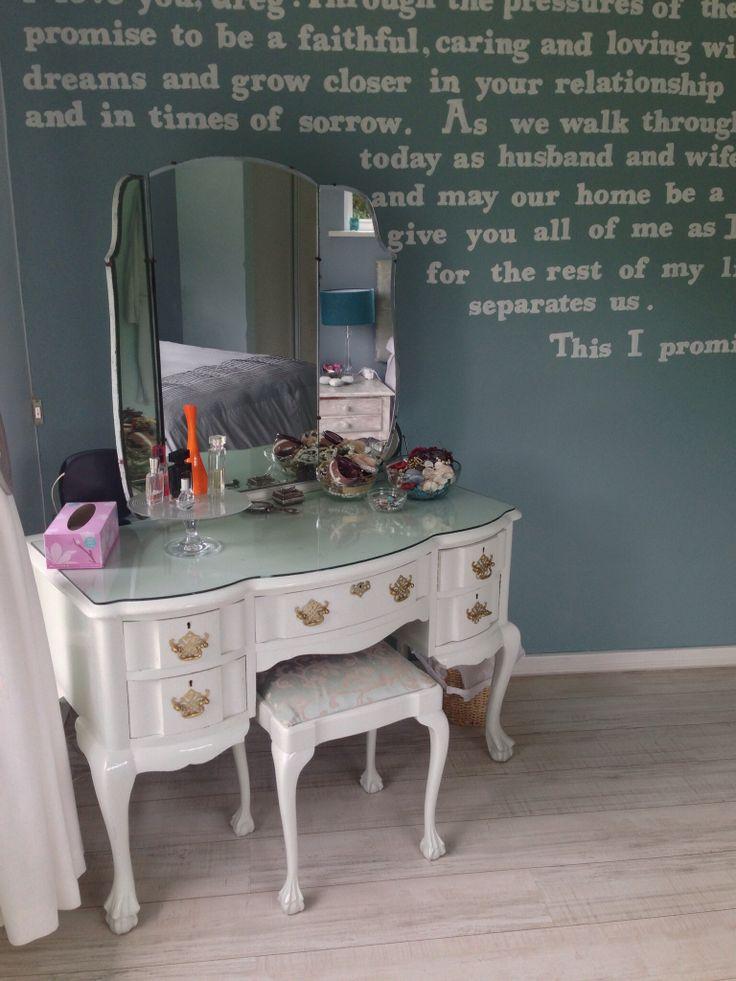 Vanity in the corner