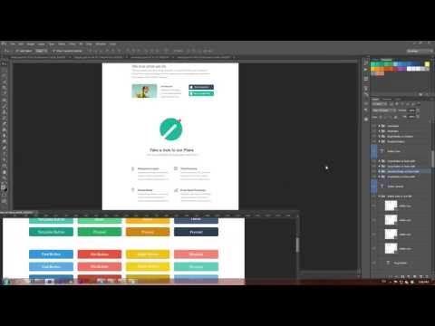 Create a Website Flat Design in Photoshop using Flat UI (Video Tutorial)  Source: http://designmodo.com/flat-web-design-tutorial/#ixzz2XDeFmCno