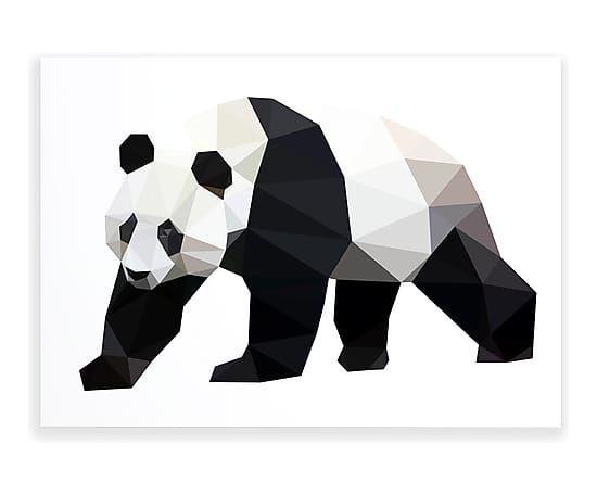 Affiche PANDA papier, noir et blanc - 29*21