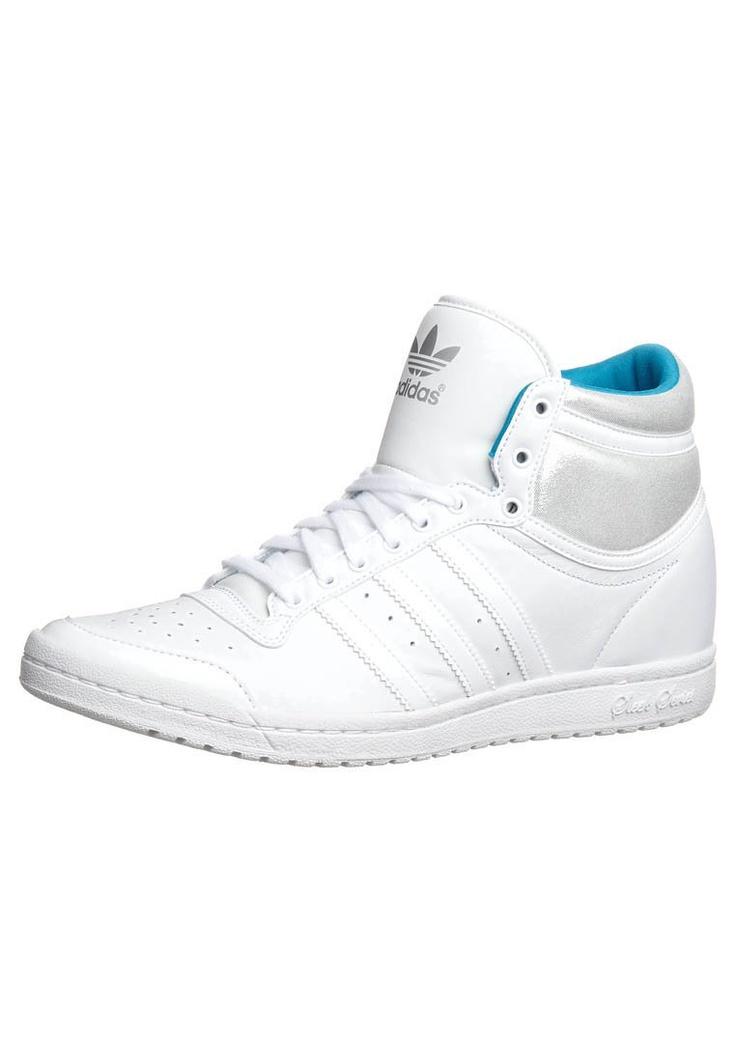 adidas Originals - TOP TEN HI SLEEK HEEL - Korkeavartiset tennarit - valkoinen