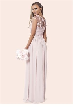 Sistaglam Beverley Rose Pink Lace Bridesmaid Maxi Dress  £125.00    This pastel hued gown is tailor-made to suit the ultimate girl squad - the fabulous bridesmaids. The full skirt adds a princess vibe and the classic neckline will flatter all shapes and sizes. Equip the bridal party with matching rose bouquets and light make-up to ensure those wedding photos look on point.     Colour: Pink