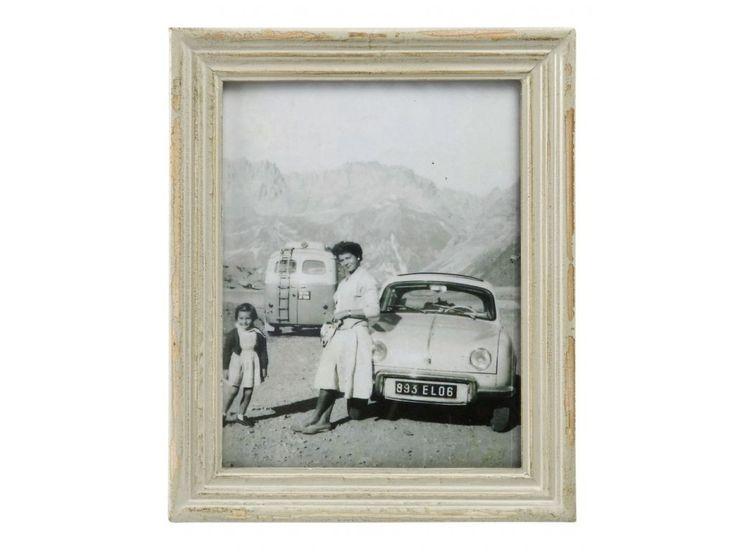 Rámeček na fotky z kolekce Memoires, béžová barva s patinou