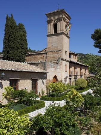 Convent of San Francisco, a Parador, Granada, Andalucia, Spain, Europe Lámina fotográfica
