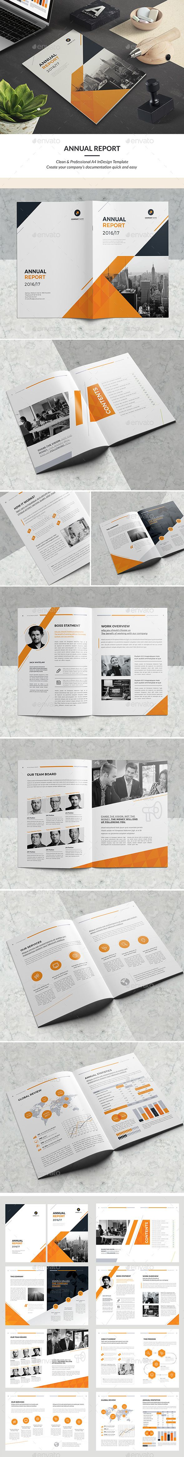 Clean Annual Report Design Template - Corporate Brochures Design Template InDesign INDD. Download here: https://graphicriver.net/item/clean-annual-report/19184304?ref=yinkira
