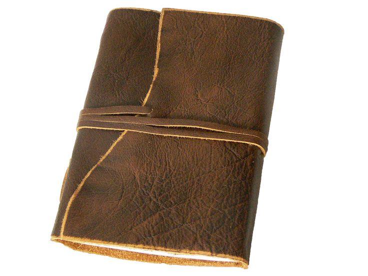 """Sonderformate - B6 Lederbuch """"BORDEAUX"""" - Tagebuch Notizbuch Leder - ein Designerstück von mein-lederbuch bei DaWanda"""