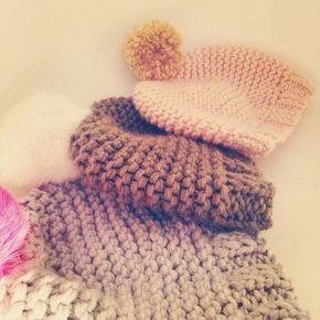 Le bonnet minute sans chichi Taille enfant 3-5 ans (5-10 ans) (adulte) Partner 6 en double aiguilles 8