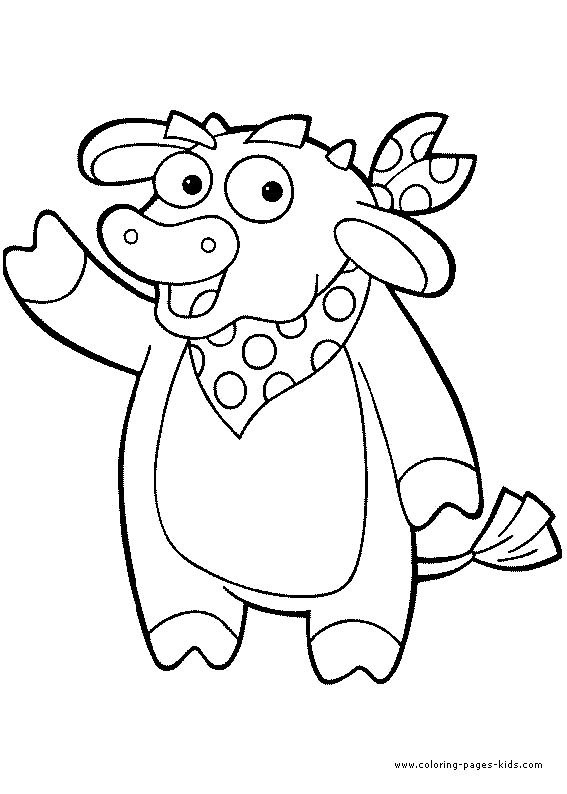 Dora The Explorer Color Page Cartoon Characters Coloring Pages