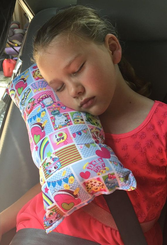 Shopkins Seat Belt Pillow Girls Travel Pillow Booster by Jenammyes