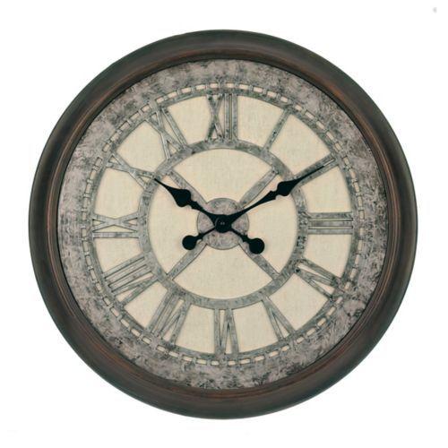 Galvanized Cream Wall Clock | Kirklands