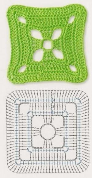 Delicadezas en crochet Gabriela: Patrones gratis ; Cuadrados de la abuela ganchillo by abigail