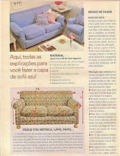Agulha de ouro Ateliê: Como fazer uma bela capa de sofá.