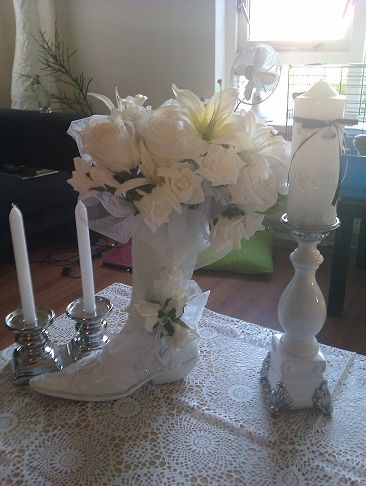 My Cowboy Boot Centerpiece | Weddingbee Photo Gallery
