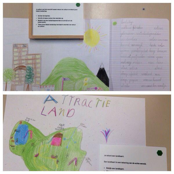 Groep 4 'Natuur en cultuur' 'Teken een landkaart'
