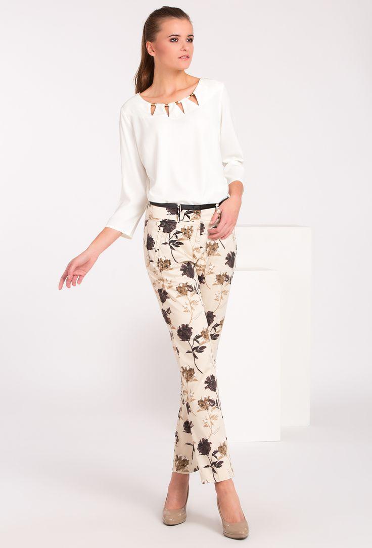 L2017 Spodnie w kwiaty