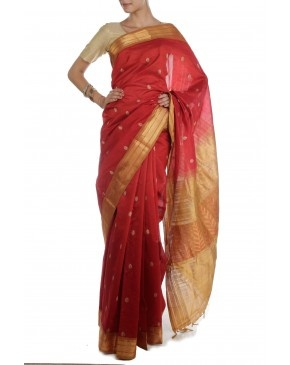 Red  Saree by SCS