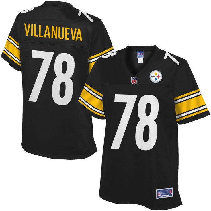 Women's Pittsburgh Steelers Alejandro Villanueva NFL Pro Line Team Color Jersey