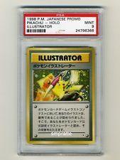 POKEMON 1998 PIKACHU ILLUSTRATOR PROMO GRADED PSA 9 MINT MOST VALUABLE CARD!