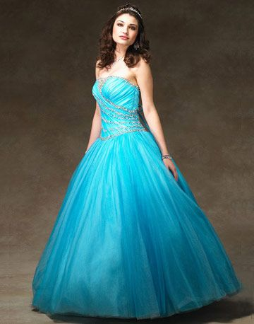 This bright blue dress with crystals has just the right amount of sparkle!