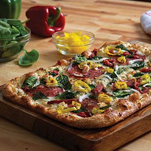 DOMINOES PIZZA}  Choose two slices of Tuscan Salami & Roasted Veggie Pizza (on Artisan Pizza menu). . . ( 560 mg. per two-serving)