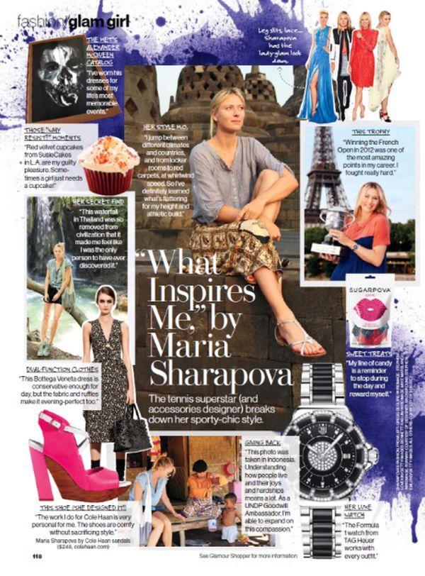 Maria Sharapova in revista Glamour