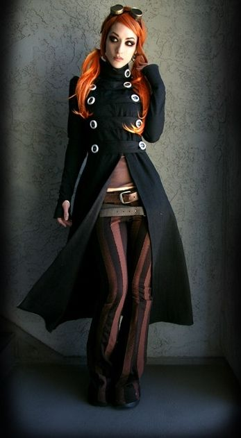 steampunk wear for women | DevilInspired Steampunk Dresses: Fashion Steampunk Coat for Women