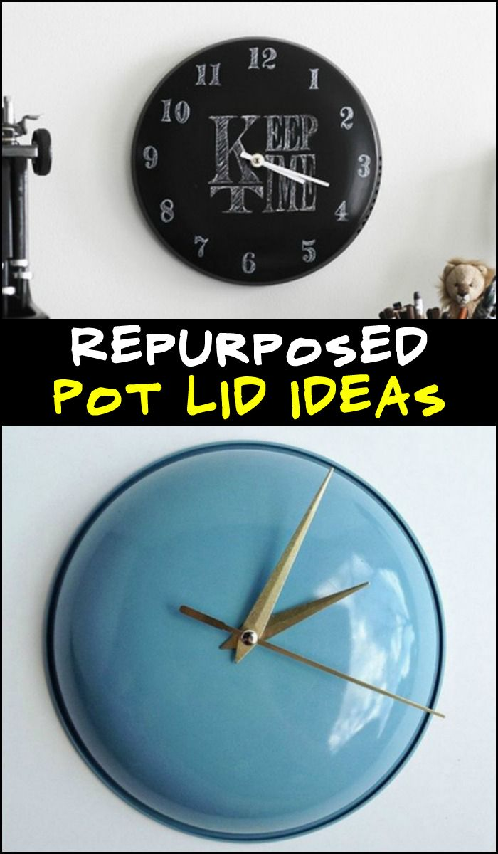 Why trash old pot lids when you can upcycle them in so many different ways? This is just one example. Head over to our site to see all the possibilities!