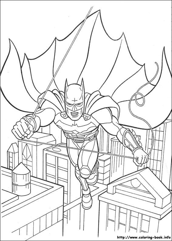 Batman Coloring Page 1 Is A From BookLet Your Children Express Their Imagination When They Color The