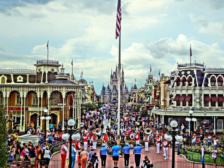 Flag Retreat no Magic Kingdom
